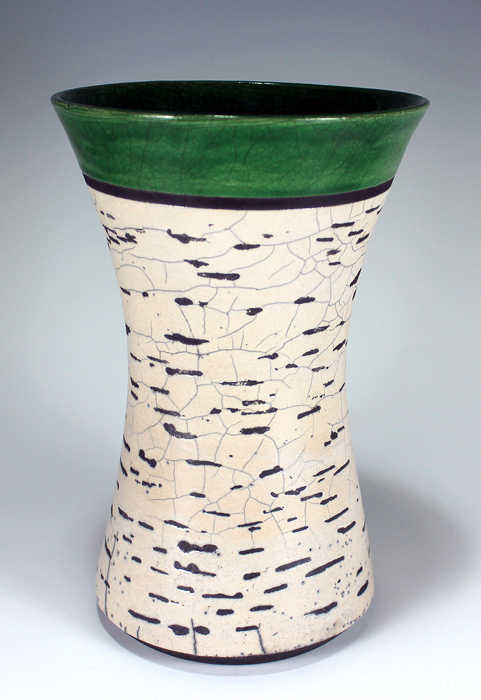 Birch Bark Summer Raku Vase